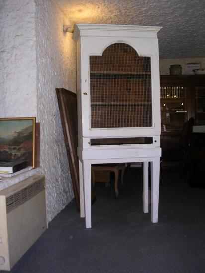 Meuble 1 porte 1 tiroir en bois peint