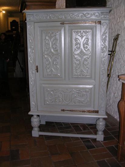 Confiturier en chêne peint 1 porte