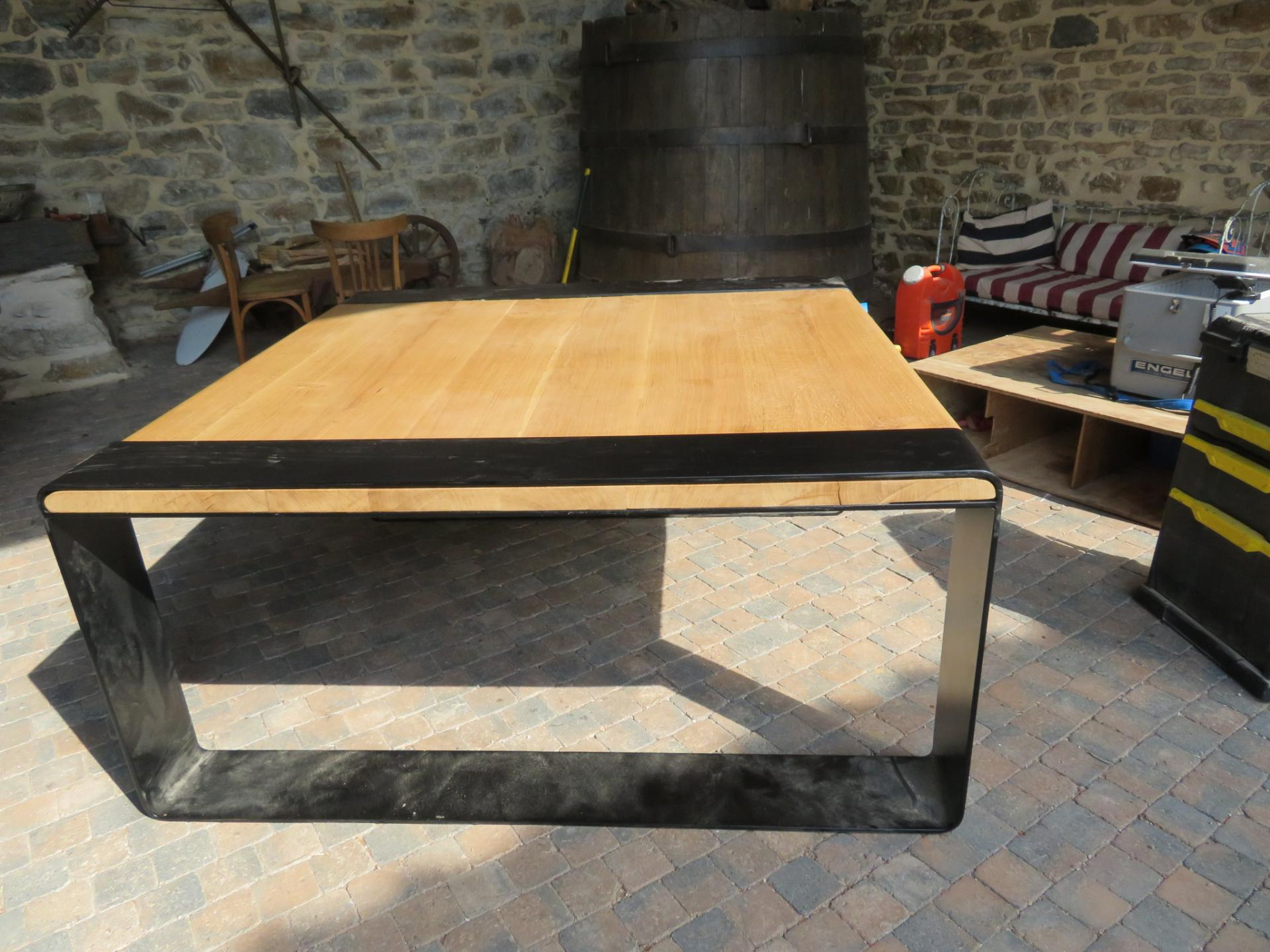 Table basse bois / fer